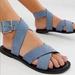 Asos Flossy Cross Strap Flat Sandals